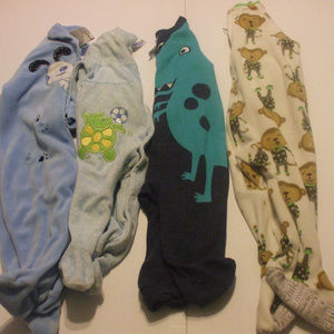 Lot 4 Baby Rompers 6 Months Cotton Blends